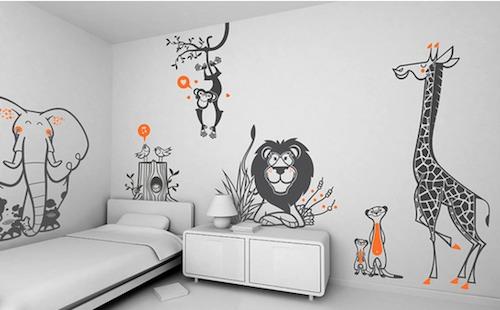 かわいいイラストがメインの子供部屋
