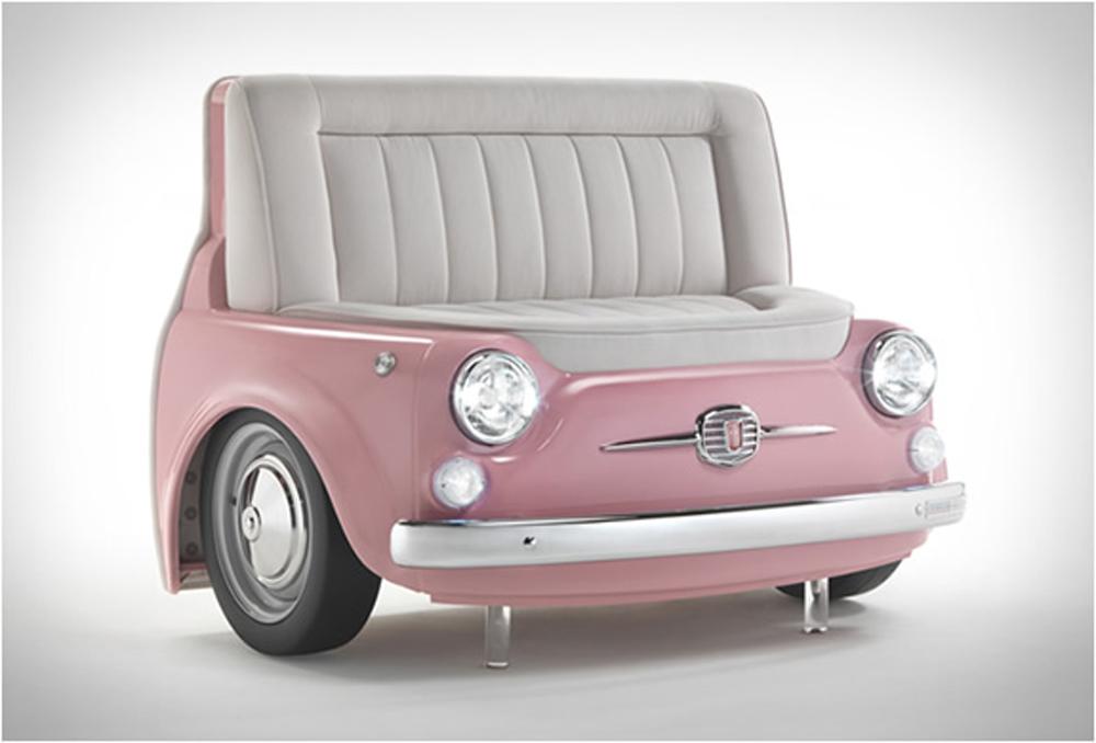 かわいい☆ピンク車のソファー