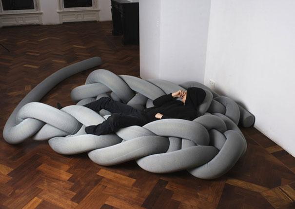 毛糸のようなおもしろベッド