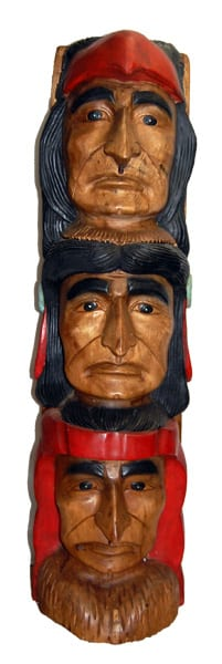 Indian Wooden Totem