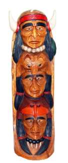 Wooden Indian-Totem 40 in