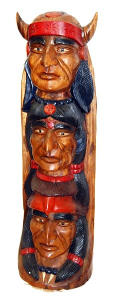 Wooden Indian Totem 24