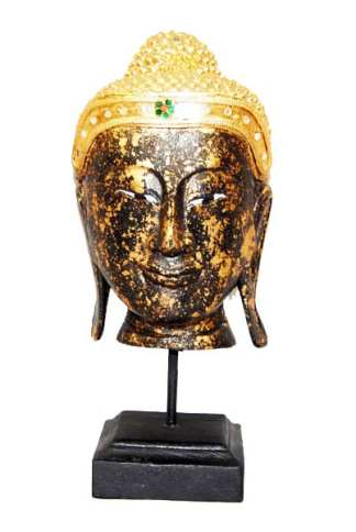 Black Head of Buddha