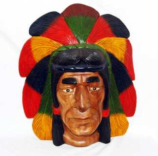 Carved Indian Chief Head