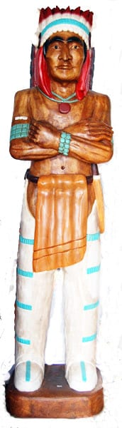 Carved Native American 20 in