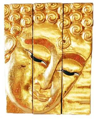Face of Golden Buddha 8 x 10