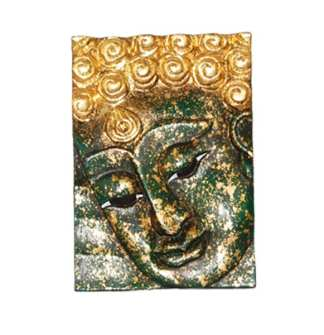 Face Buddha in Green Left