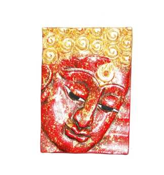 Face of Buddha in Red Right