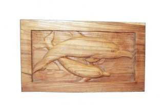 Wood Plaque Dolphins