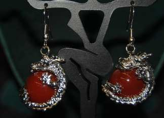 Dragon Earring Red