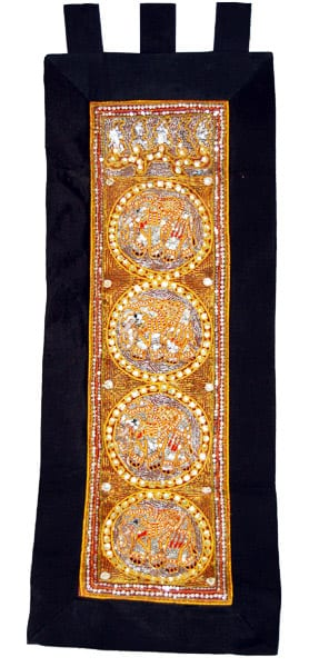 Kalaga Tapestry-Elephant Black