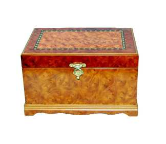 Kayla Burl Oak Jewelry Box