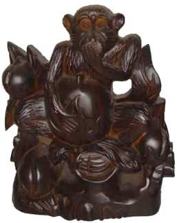 Hand Carved Rosewood Monkey