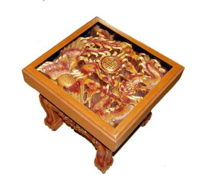 Dragon and Phoenix End Table