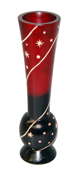 Mango Vase Red Top Star