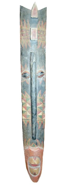 Long Face Tiki Hanging Mask