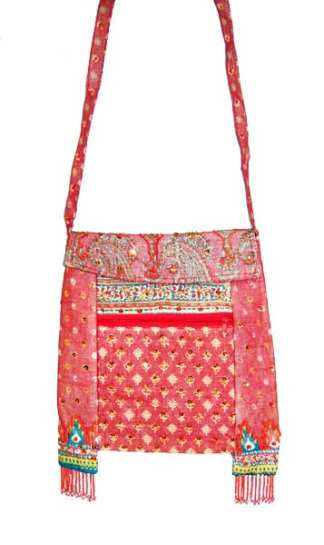 Long String Cotton Purse Red