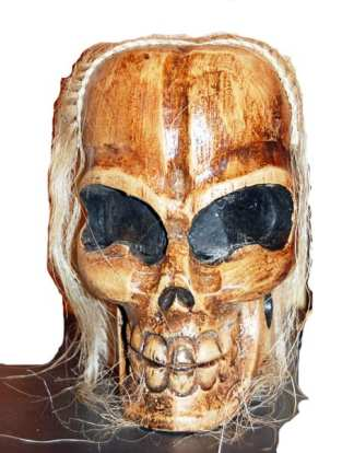 Skull Head with Blonde Hair