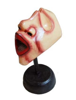 Wood Face on Stand