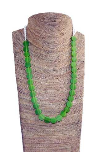 Coconut Art Necklace-----Green