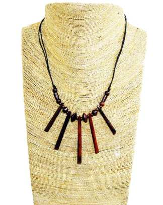 Small Wood Paddle Necklace