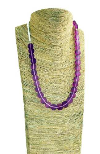 Coconut Art Necklace Purple