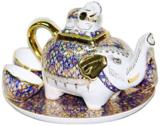 Benjarong Elephant Tea Pot