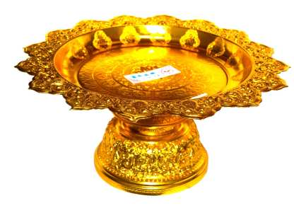 Gold Finish Serving Stand-10