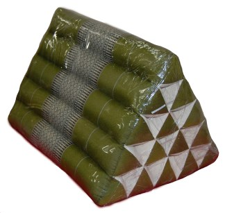 Green Triangle pillow