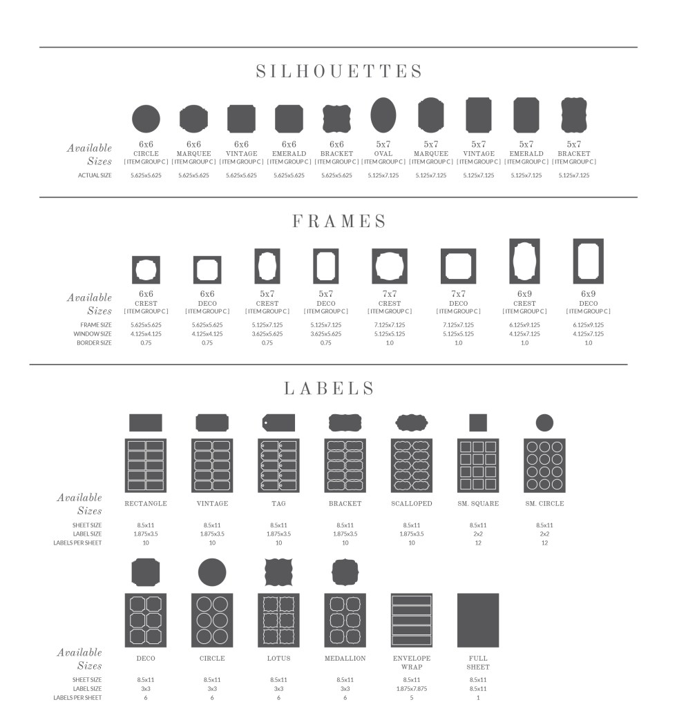 Specialty Shapes and Labels