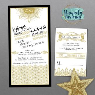 Gatsby Glam Invitation Set