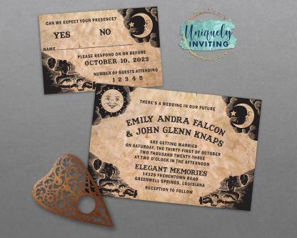 Ouija Board Invitation Set