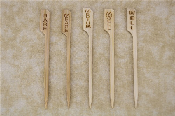 Bamboo Steak and Burger Markers - 2 Sizes