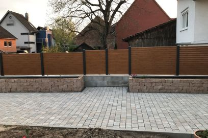 fence flat and rhombus wood imitation