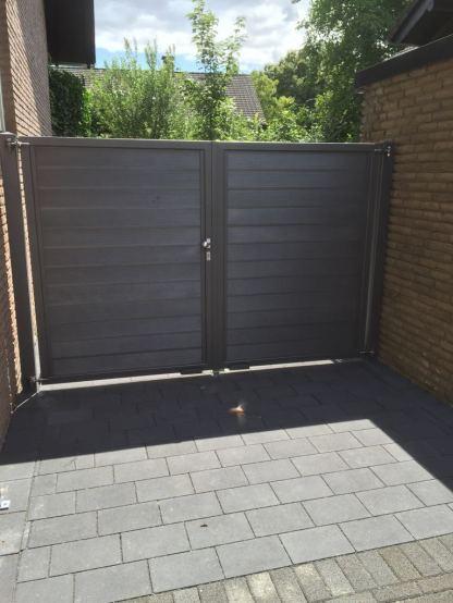 gate louvre double grey