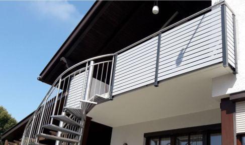 balcony with rails