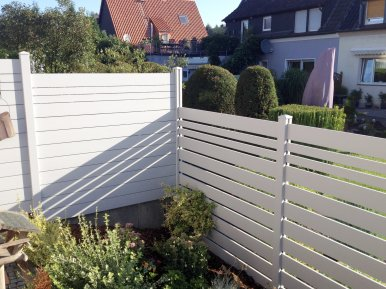fence flat and rhombus white with and without spacer