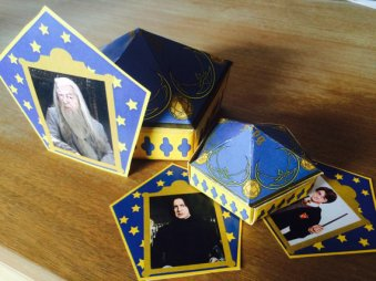 Fold Your Own Harry Potter Chocolate Frog Box with Wizard Cards Printable – created and sold by RockYourWalls on Etsy