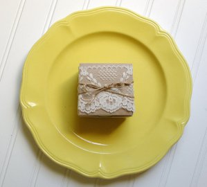 Lace and Twine Kraft Paper Favor Boxes - created and sold by AnnaLouAvenue on Etsy