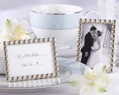 Silver and Pearl Frames for Escort Cards – sold by TeaAndBecky on Etsy