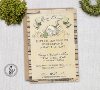 Digital Easter Brunch Invitation – created and sold by SugarSpiceInvitation on Etsy