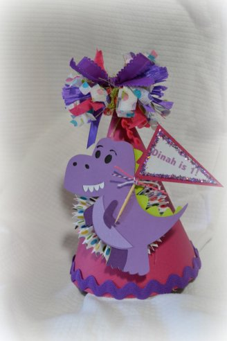 Dinosaur Birthday Party Hat – created and sold by PoshBoxParties on Etsy