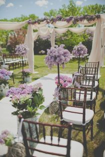 Romantic Lilac Outdoor Spring Wedding with Purple Flowers – shared in the Style Me Pretty Vault