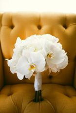 Crisp and Clean White Orchid Bouquet – shared on Southern Weddings