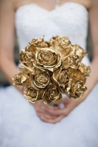 Gold Rose Wedding Bouquet – shared on Bridal Guide