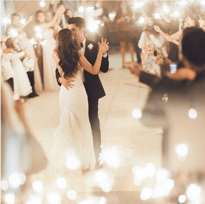 First Dance Surrounded by Sparklers – shared by weddingdream on Instagram