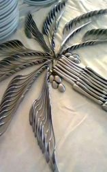 Palm Tree Cutlery Display