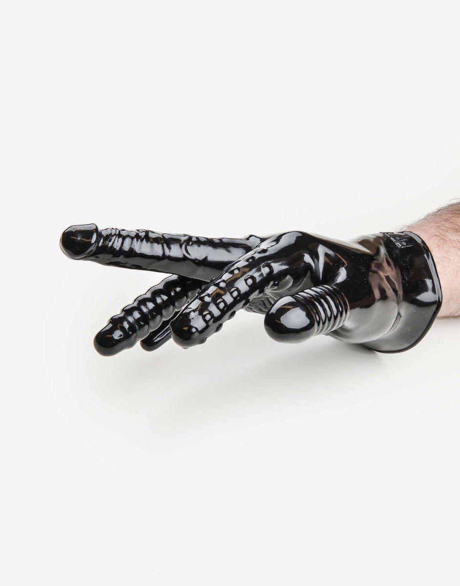 Finger fuck handske med vibrator-1182