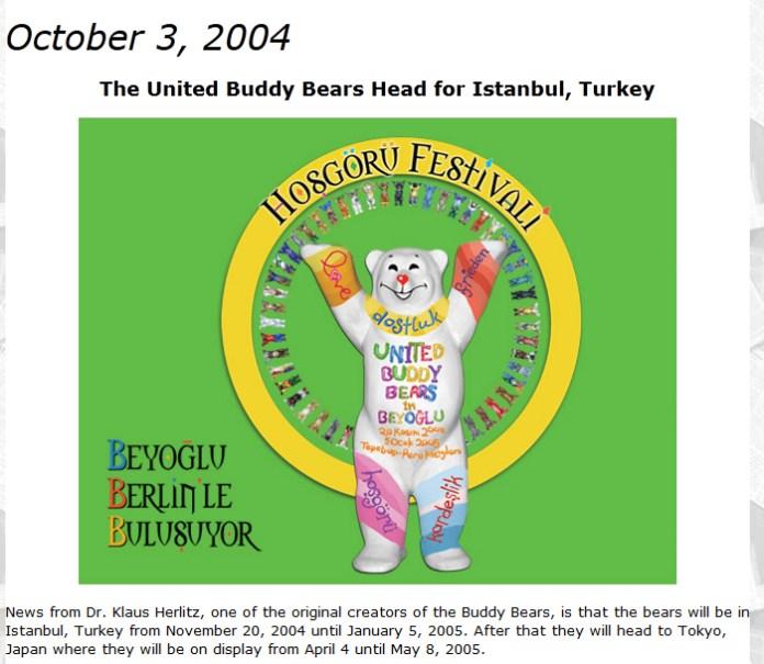 The United Buddy Bears Head for Istanbul, Turkey