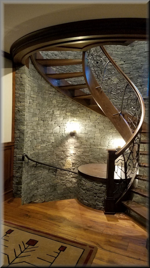 Wooden Spiral Stairs Custom Made By Unique Spiral Stairs | Spiral Staircase Wooden Steps | 2 Floor | Traditional | Enclosed | Kid Friendly | Solid